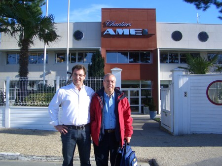 Jaume con Antoine en La Rochelle